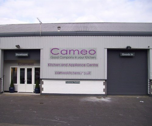 Polycarbonate showroom signs for Cameo Kitchens in Nazeing, Waltham Abbey