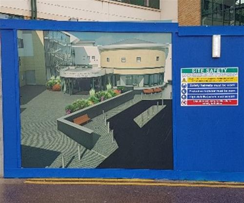 Full colour hoardings protect and inform the public