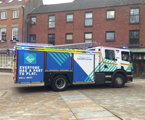 Humberside Fire and Rescue Service Fully Wrapped Truck