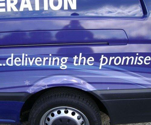 Seven Refrigeration vehicle fleet vinyl graphics