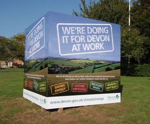 Devon County Council board display
