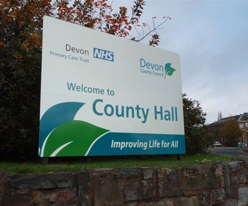 Devon County Council free standing panel sign