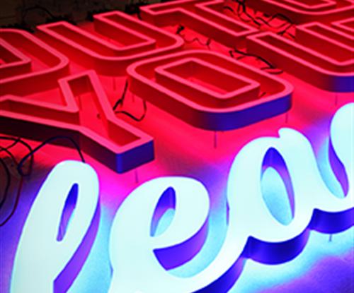 Faux Neon Signage