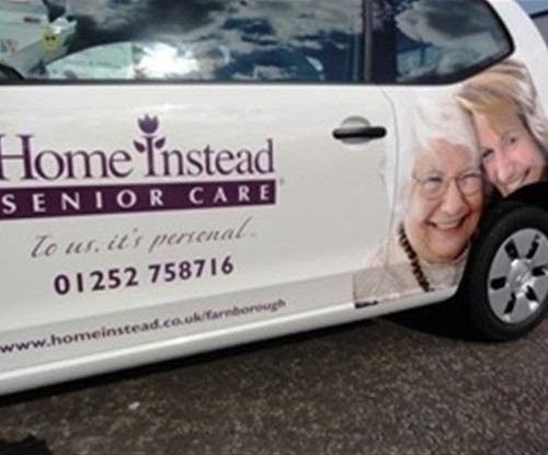 Vehicle graphics installed by Signs Express (Farnborough)