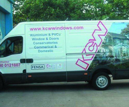 Vehicle wrap for KCW Windows
