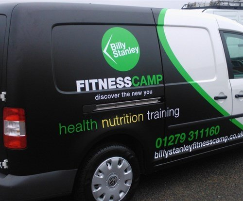 Vehicle wrap for personal trainer Billy Stanley