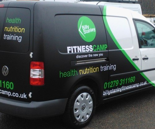 Van graphics installed by Signs Express (Harlow)