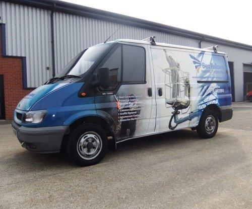 Van wrap for Ben Fallows