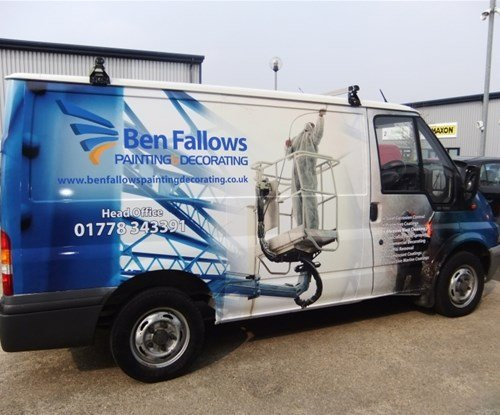 Vehicle graphics installed by Signs Express (Peterborough)