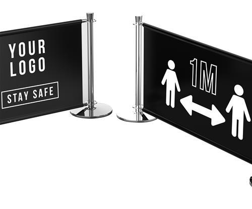 1m cafe barrier for social distancing