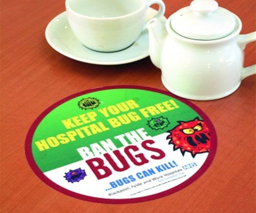 Coaster for 'Ban the bugs' campaign