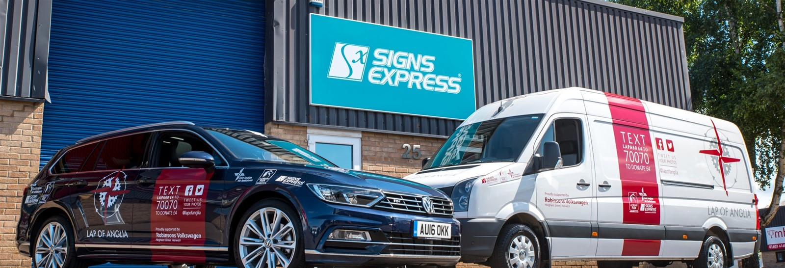 2016 Livery for the event done by Signs Express Norwich