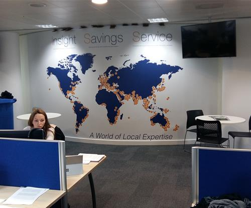 'A world of local expertise' - bespoke wallcovering for Inchcape SS