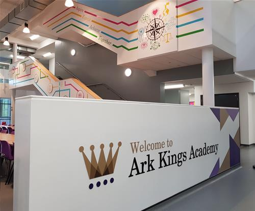 Custom wall graphics and logo feature