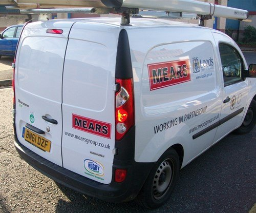 Vehicle graphics installed by Signs Express (Leeds)