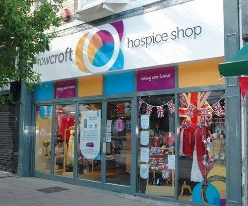 Rowcroft exterior shop sign