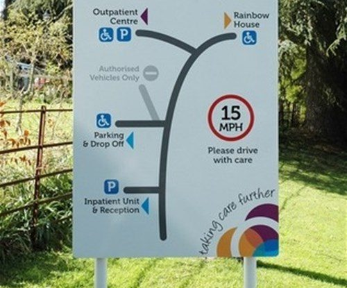 Rowcroft wayfinding sign