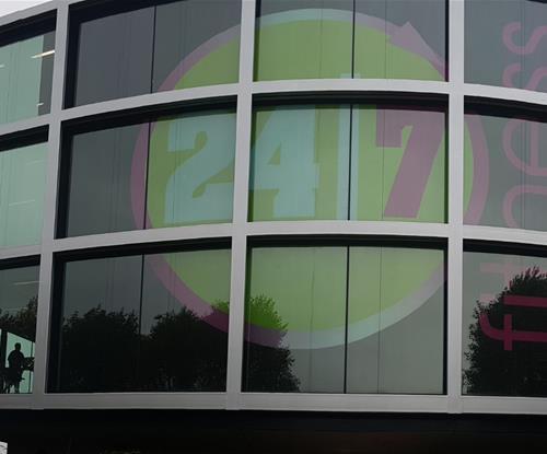 Window Graphics installed across three floors