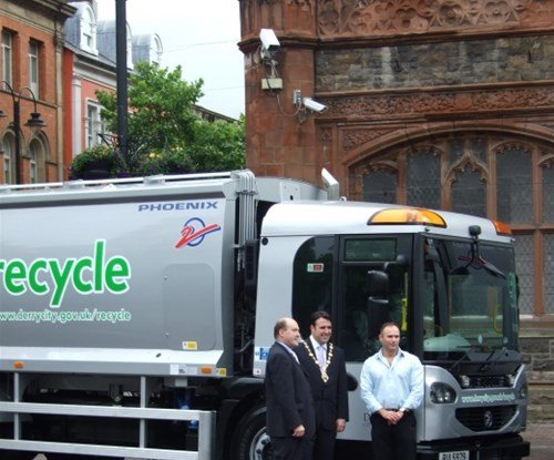 Refuse collection vehicle graphics
