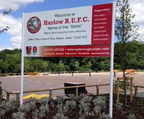 Main entrance sign at Latton Park Harlow