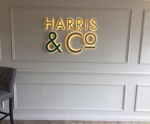 Illuminated Built Up Internal Letters