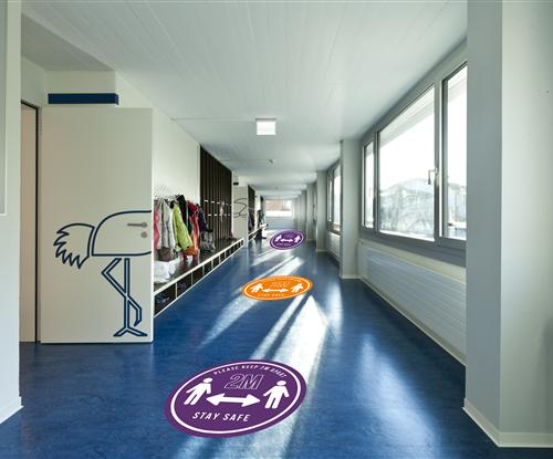 Floor graphics for schools