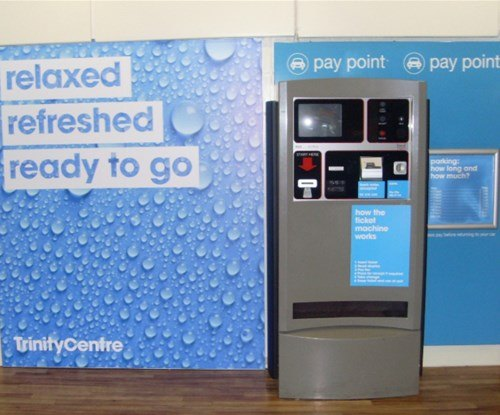 The Trinity shopping centre pay and display graphics