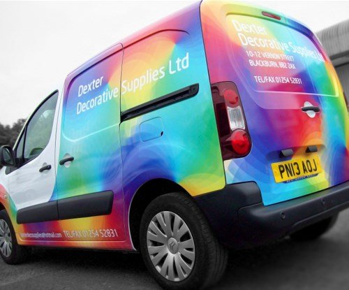 Vehicle graphics designed and applied by Signs Express Central Lancashire