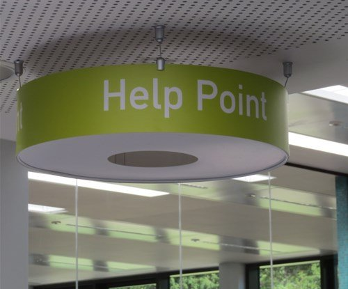 Help point hanging sign