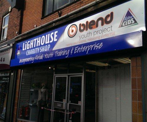 Lighthouse shop sign