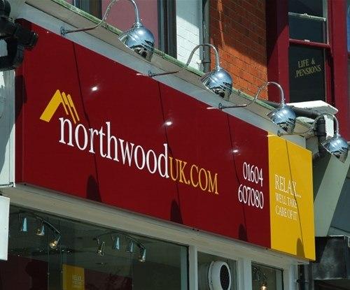 Shop fascia panel at Northwood UK
