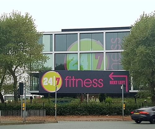 Exterior Signs for 24/7 Fitness