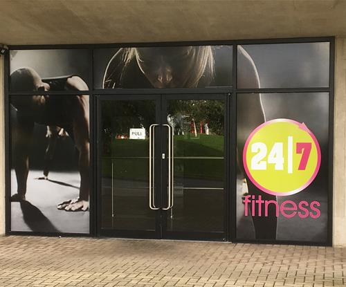24/7 Entrance Door Window Graphics