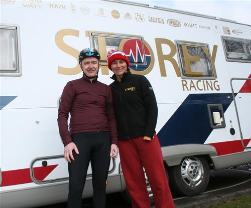 Dame Sarah Storey with Signs Express Manchester's Lee Eaton