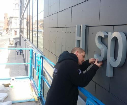Signs Express Central Lancashire fitting the main exterior signage