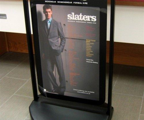 Slaters A-board display