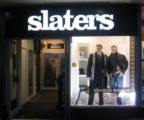 Slaters Illuminated shop sign