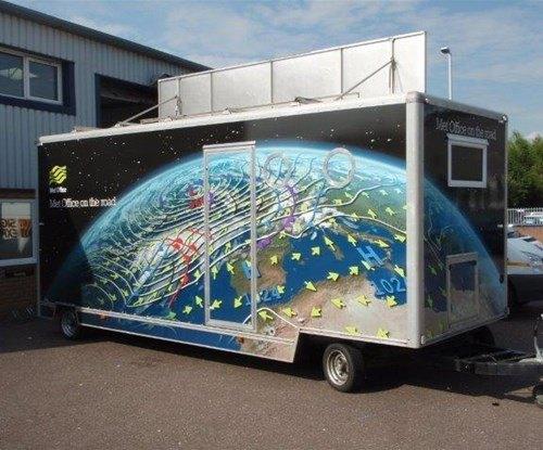 Met Office - exhibition trailer