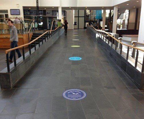 Met Office - floor graphic in situ