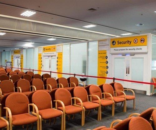 Wayfinding signage at the terminal