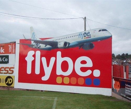 Exeter City Football Club advertising hoarding