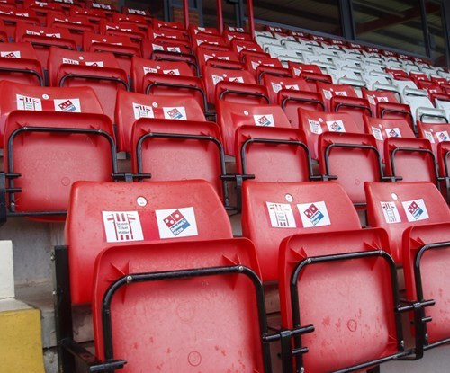 Exeter City Football Club seating labels