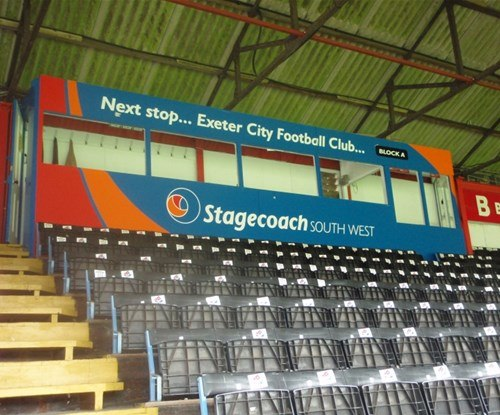Exeter City Football Club box seats