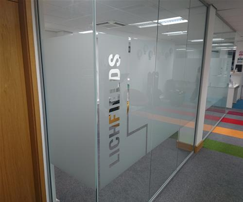 Etched window graphics for Lichfields