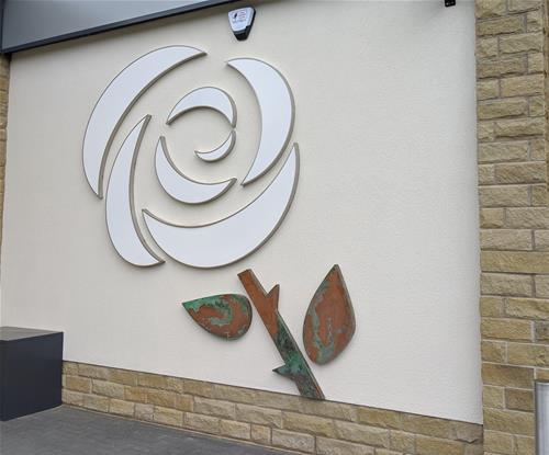 White Yorkshire Rose Replica for Lidl in Leeds