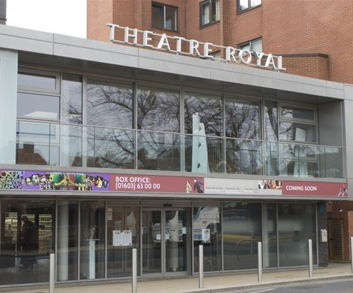 Norwich Theatre Royal exterior sign
