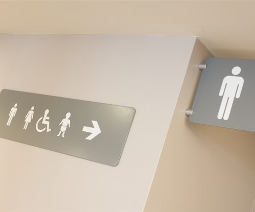 Norwich Theatre Royal toilet signs