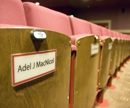 Norwich Theatre Royal seating number labels