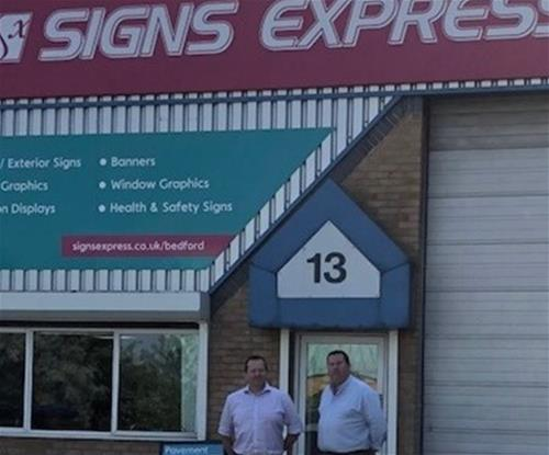 Rob Weall, owner of Signs Express (Bedford)