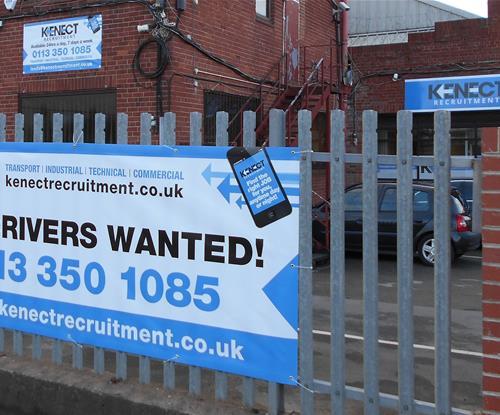 New signage a nationwide recruitment firms Leeds Office.